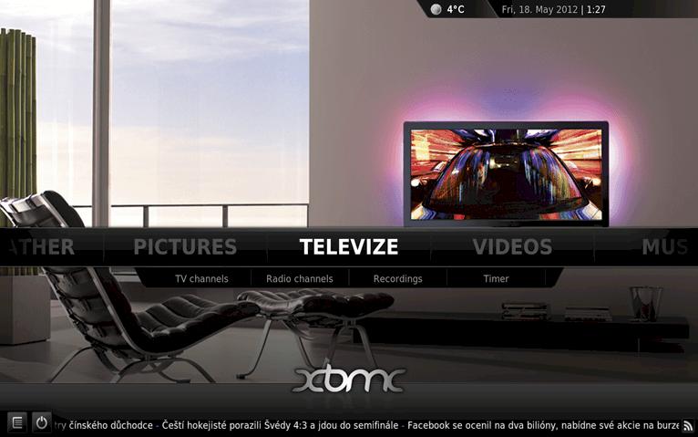 XBMC – první spuštění