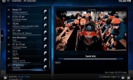 Jak si vyzkoušet TV sekci v Kodi (XBMC) s TimeShiftem, EPG a proaktivním laděním tunerů
