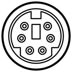 mini-DIN 6pin