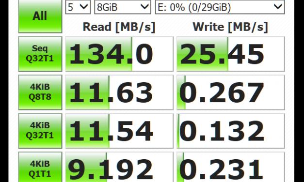 Kingston DataTraveler micro 3.1 16GB/32GB CrystalDiskMark speed